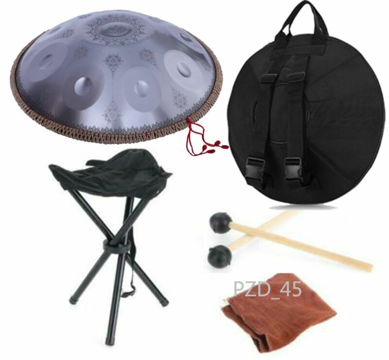 "New 22 ""9 Notes Professional HandPan Drum Handmade Good Sound"