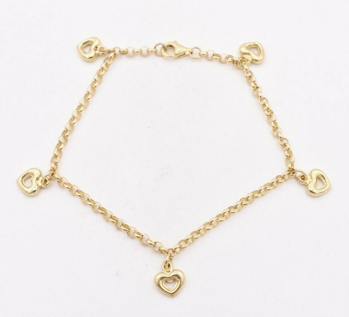 10k Yellow Gold Tennis Charm With Lobster Claw Clasp Charms for Bracelets and Necklaces