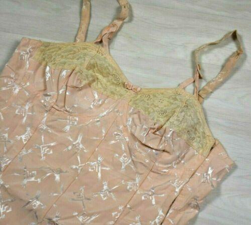 Vintage Stayform Pink Corset Girdle Shaper Shape Wear XL Orig Label 1940s 1950s
