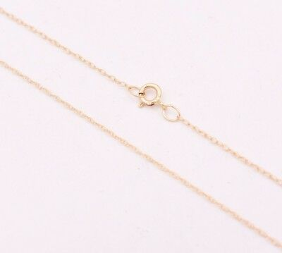"""0.6mm Open Dainty Twisted Rope Chain Necklace Real Solid 10K Yellow Gold 16"""" 18"""""""