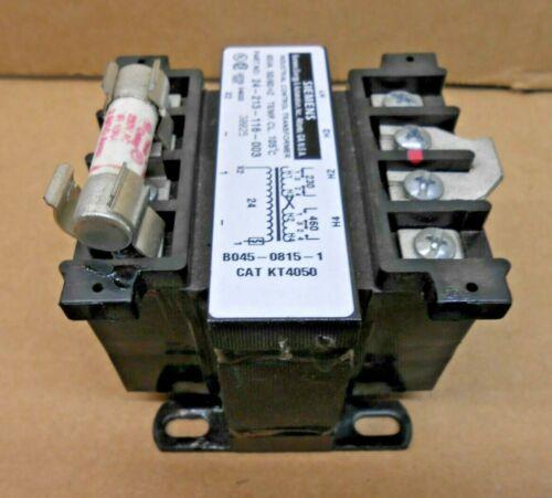 1 NIB SIEMENS KT4050 CONTROL TRANSFORMER 45VA 230/460V PRI X 24V SEC 50/60HZ