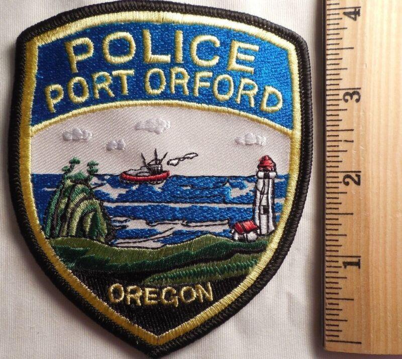 PORT ORFORD OREGON POLICE PATCH (HIGHWAY PATROL, SHERIFF, EMS)