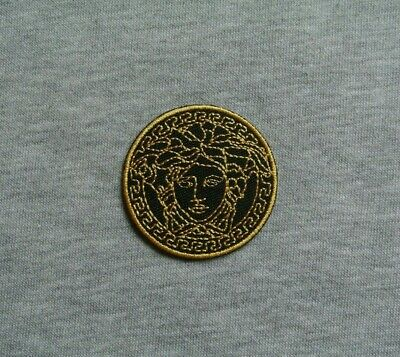 2in*2in/5cm*5cm Embroidered Iron On Patch Sew On Badge Emblem Logo (Versace Emblem)