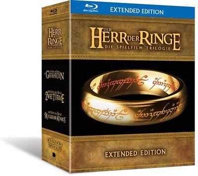 Der Herr der Ringe - Die Spielfilm Trilogie Extended Edition Blu-ray Box Set Neu ()