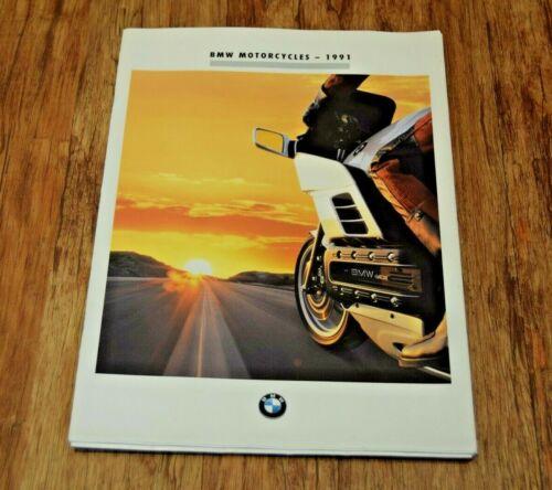 1991 BMW MOTORCYCLE BROCHURE BMW K100LT R100GS - K75RT - K75S - K1 - R100GS