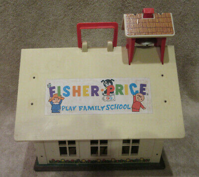 Vintage Fisher Price Little People Play Family School House #923 -SEE PICS