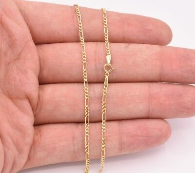 "1.8mm Royal Figaro Anklet Chain Real 10K Yellow Gold 10"" FREE SHIP & RETURN!"