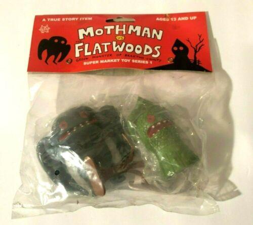 Rare Mothman Vs. Flatwoods Green Monster of Braxton County UMA Toy Play Set NIP