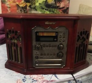 Vintage style Record Player ,CD Recorder, Cassette , AM/FM Radio