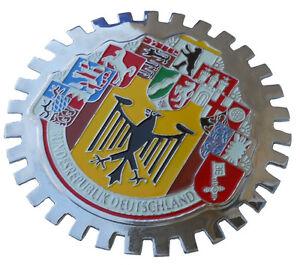 10 German cities car grille badge