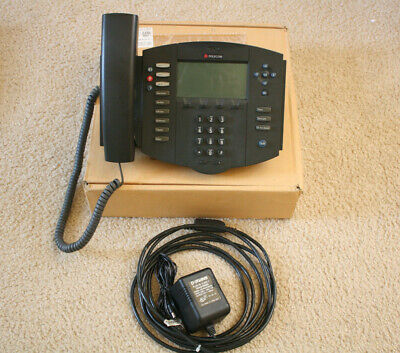 Polycom Soundpoint Ip 500 Voip Poe Phone Complete Tested Working