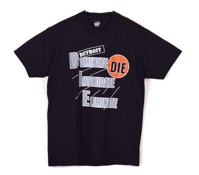 Detroit Pistons Bad Boys NBA Vintage 90s Single Stitch Graphic T-shirt NEW Sz L