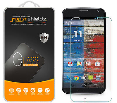 2X Supershieldz Tempered Drinking-glass Screen Protector For Motorola Moto X (1st Gen)