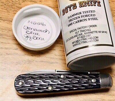 GREAT EASTERN CUTLERY 142216-TIDIOUTE 2 BLADE SFO-STONEWASH BLUE BONE KNIFE