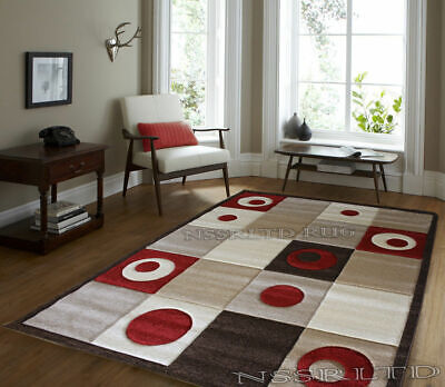 Best Quality Boxed & Circle Design Hand Carved Rugs Carpets Medium X-Large