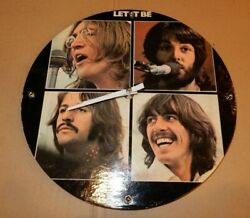 The Beatles Let It Be Album Cover Wall Clock WORKS Unique Handmade Memorabilia