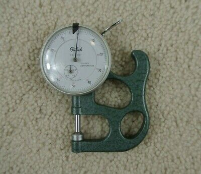 Vintage Teclock Thickness Gage Dial Indicator 0.5 - 0.001 With Handle Japan