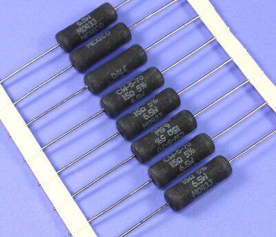 8pcs Vishaydale Cw-5 Wirewound Power Resistor 15 Ohm 5 6.5 Watt