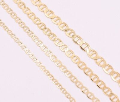 -  Flat Mariner Anchor Necklace Chain 14K Solid Yellow Gold ALL SIZES & GAUGES