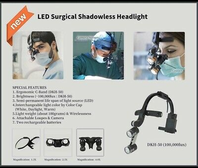 Dr. Kim Led Surgical Headlight Including Case 2 Batteries 1.5x Loupe