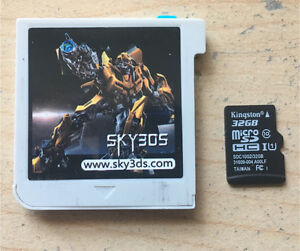 Nintendo 3DS Sky3DS Rom Cart. *Get every game!* +32gb MIcroSD