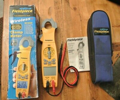 Fieldpiece Wireless Swivel Head Clamp Meter True Rms Sc660