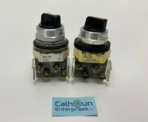 (Lot of 2) Allen Bradley 800T-H2 Selector Switch 2 Position *WARRANTY*