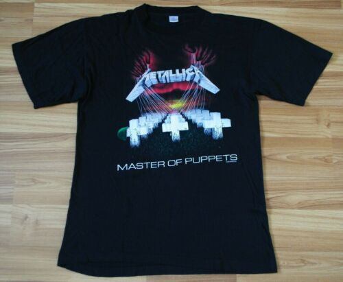 METALLICA MASTER OF PUPPETS 1987 TOUR CONCERT SHIRT RARE GENUINE RETRO SZ LARGE