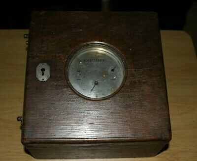 Plasschaert Pigeon Racing Master Timer Clock circa 1900