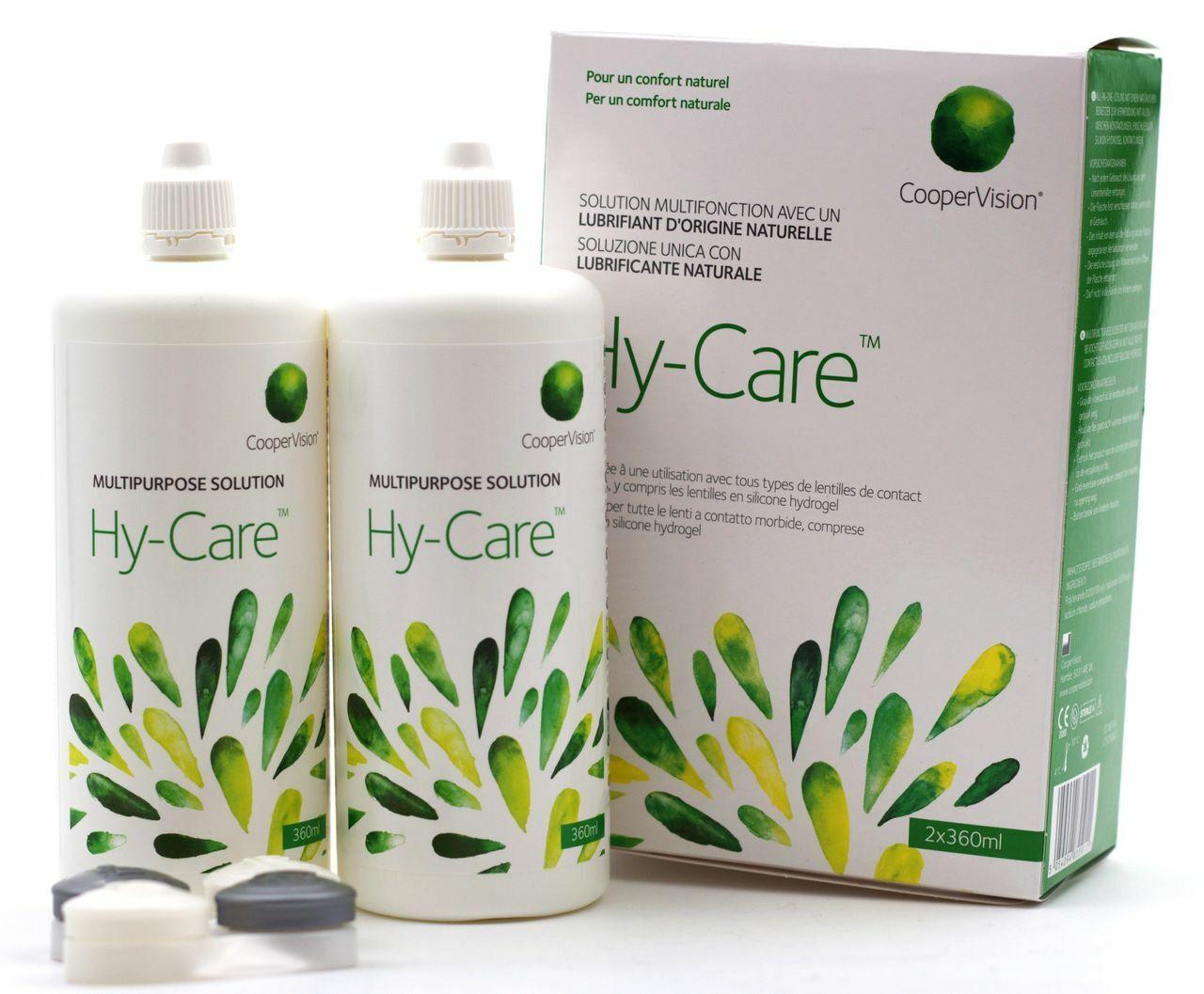 CooperVision Hy-Care Kombilösung Kontaktlinsenflüssigkeit 2er Pack (2 x 360 ml)