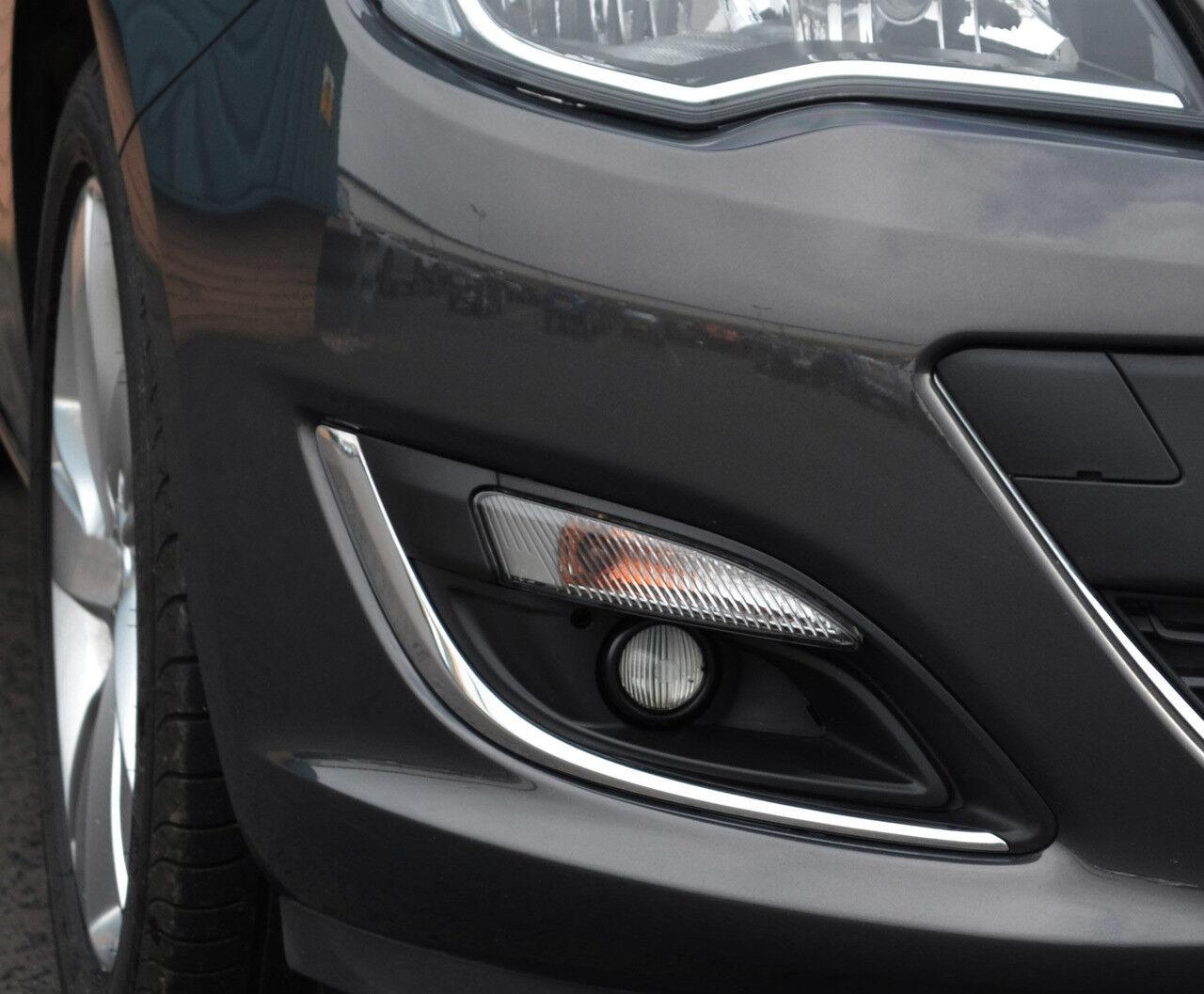 Chrome Fog Light Lamp Trim Covers Set To Fit Vauxhall Opel Astra J 2012 16 Ebay