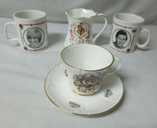 (4) Prince Charles & Lady Diana Spencer Churchill Coffee Tea Cup
