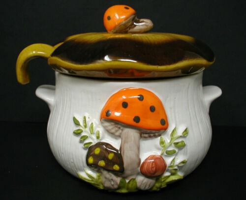 Vintage Merry Mushroom Soup Tureen C/W Lid & Ladle