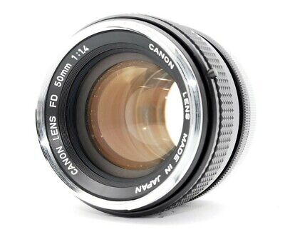 【Exc+3】Canon FD 50mm F/1.4 Maual Focus Prime Lens From Japan