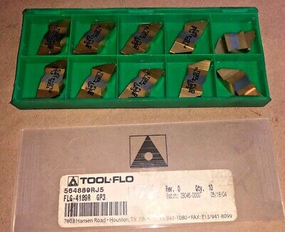 Tool Flo Carbide Inserts Quanity 10 Flg 4189r Gp3