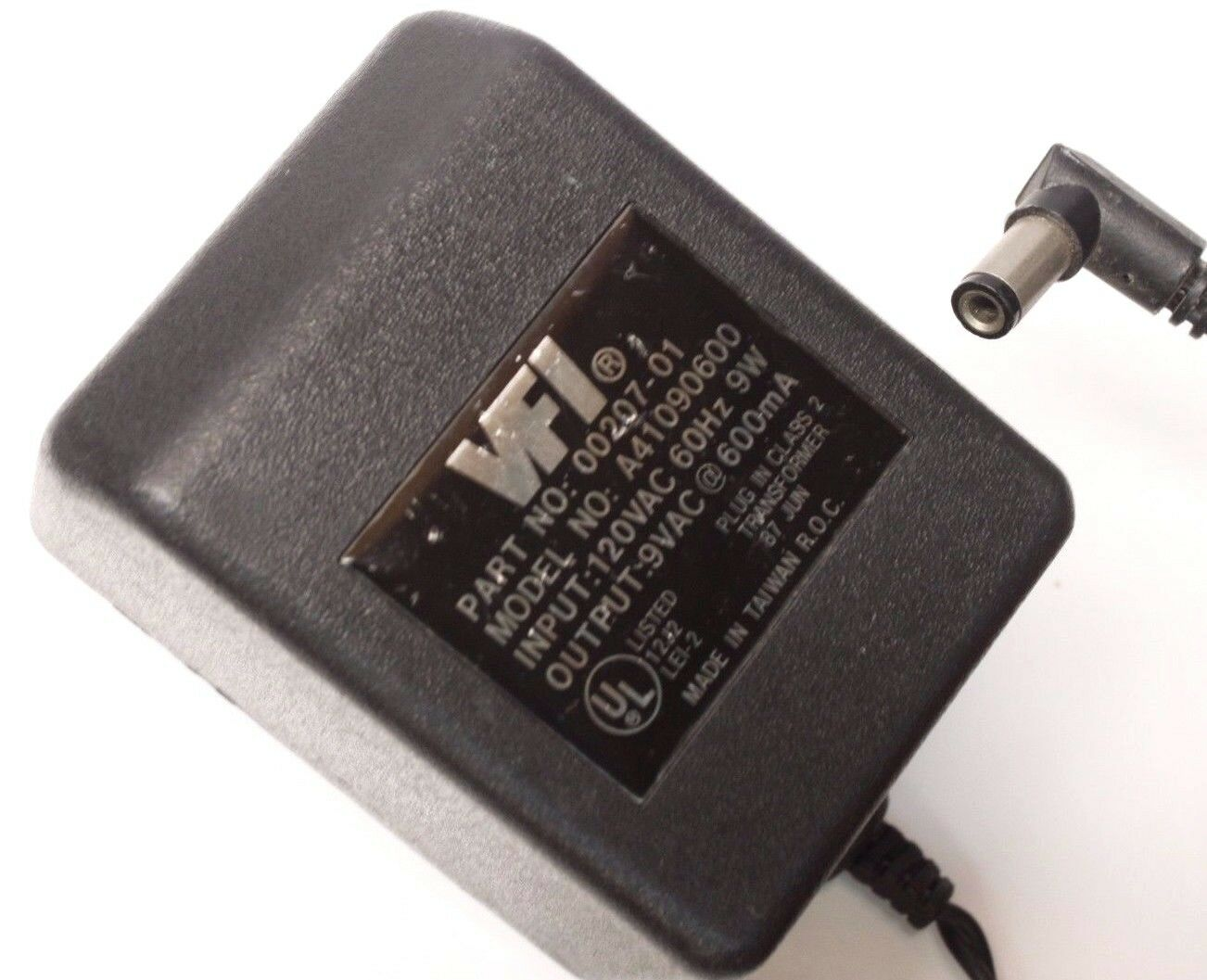VFI A41090600 AC DC Power Supply Adapter Charger Output 9V 600mA