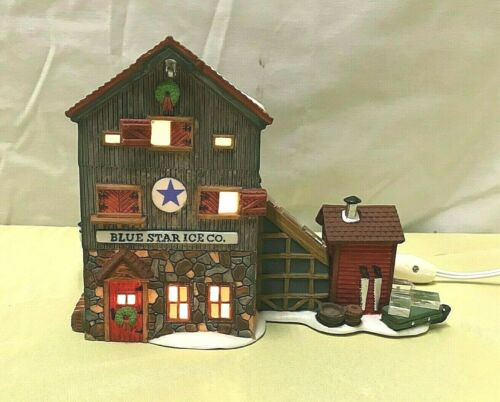 DEPARTMENT 56 New England Village Series ~ BLUE STAR ICE CO. ~ # 5647-2 ~ Lights
