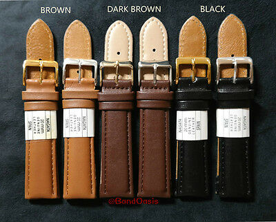 New 12 14 16 18 20 22 24 26 28Mm Padded Fits Nagata Genuine Leather Watch Band