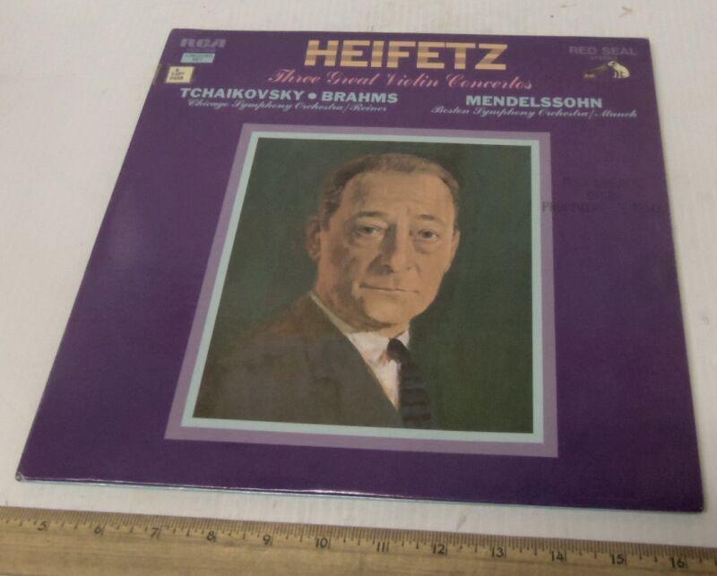 Jascha Heifetz, Violinist - Tchaikovsky - Brahms - Mendelssohn - 2 Record Set