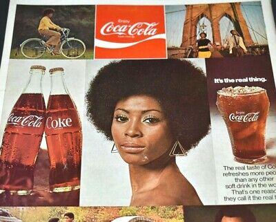 Coke Bike African American Model Bridge Walk Coca-Cola 1972 Vintage Print Ad
