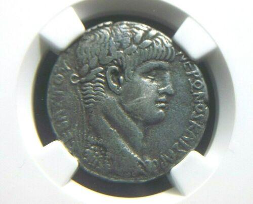 Roman Silver Tetradrachm of Emperor Nero, Eagle Reverse NGC  F 0002