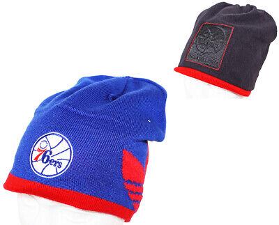 Basketball Reversible Beanie (ADIDAS PHILADELPHIA 76ERS - BLUE/BLACK BEANIE REVERSIBLE CAP NBA BASKETBALL 2014)