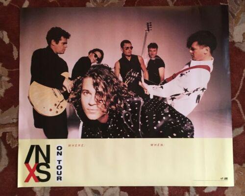 INXS  On Tour 1990  rare original promotional poster  MICHAEL HUTCHENCE