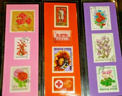3 BOOKMARKS ~ HUNGARY Laminated POSTAGE STAMPS LOT ~ Eger