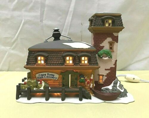 DEPARTMENT 56 New England Village Series CAPE KEAG FISH CANNERY #5652-9 ~ Lights