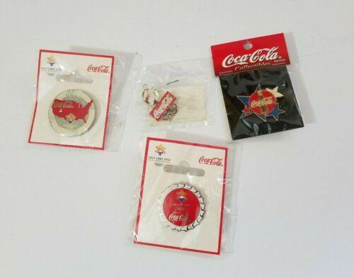 Coca-Cola pin lot of 4 salt lake 2002 Olympics nice