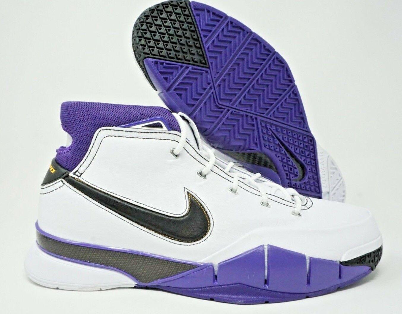 3ee7742b4c4c Nike Kobe 1 Protro 81 Point Game Mens Basketball Shoe White Purple Size 13