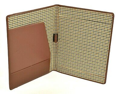 Cutter Buck Vintage Top Grain Leather Portfolio Writing Pad Notepad Organizer