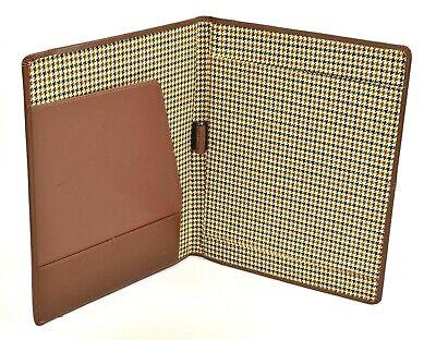 Cutter Buck Vintage Top Grain Leather Portfolio Writing Pad Notepad Organizer