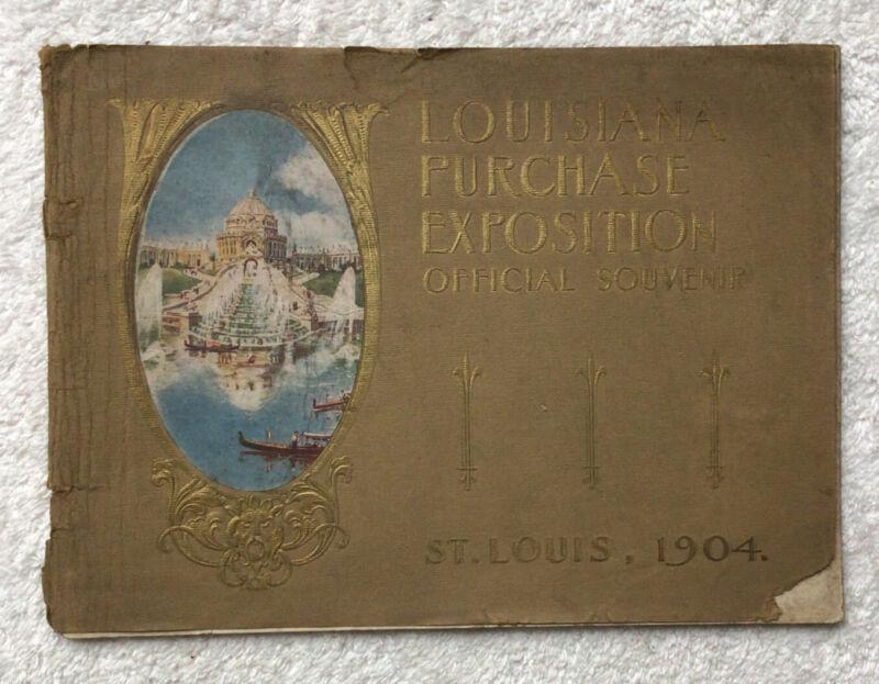 1904 Louisiana Purchase Expostion Official Souvenir Picture Booklet St Louis